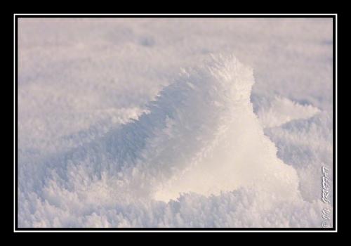 De la neige givrée