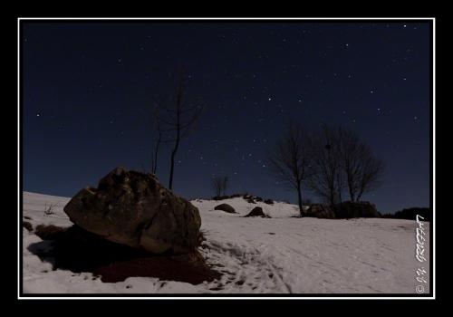 Dans la neige au clair de la Lune