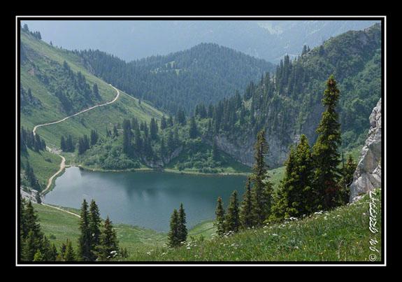 Le lac d\'Arvouin en revenant de la Pointe d\'Arvouin