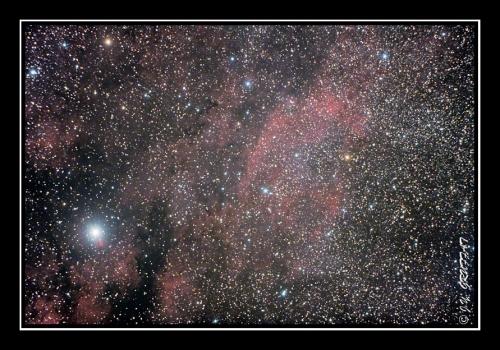 Nébuleuse IC1318 et Sadr (Gamma Cygni)