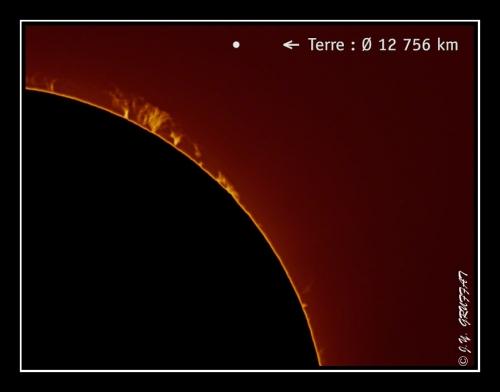Protubérances solaires du 19 uin 2011