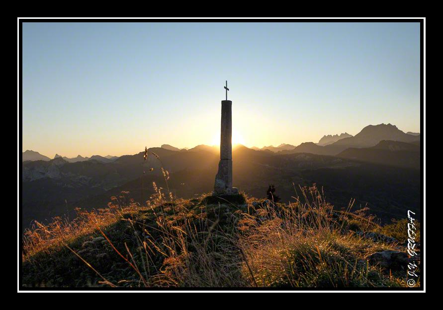 Lever de soleil sur la Pointe de Miribel